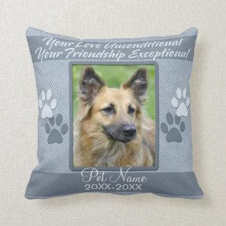 Your Love Unconditional Pet Sympathy Custom Cushion