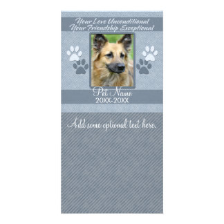 Your Love Unconditional Pet Sympathy Custom Customised Photo Card