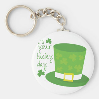 Your Lucky Day Basic Round Button Key Ring