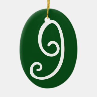 Your Lucky Number & Color. Ceramic Oval Decoration