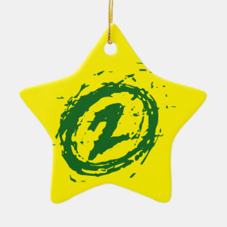 Your Lucky Number & Color. Ceramic Star Decoration