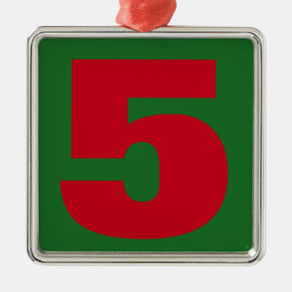 Your Lucky Number & Color. Silver-Colored Square Decoration