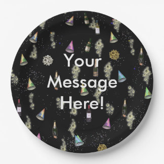 Your Message Here Celebration Paper Plate 9 Inch Paper Plate