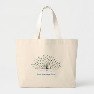 Your Message Pretty Peacock Tote Bags