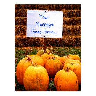 YOUR MESSAGE - Pumpkin Protest Postcard