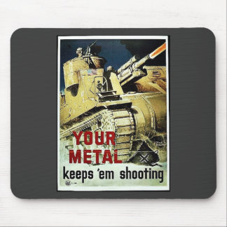 Your Metal Keep Em Shooting Mouse Pad