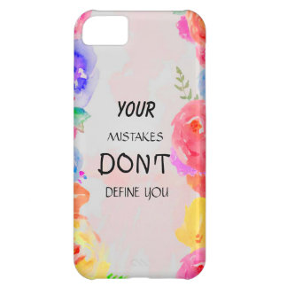 your mistakes don't define you iPhone 5C case