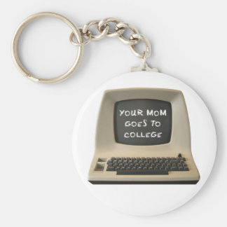 Your Mom Goes College Basic Round Button Key Ring
