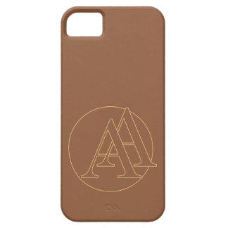 """Your monogram """"A&A"""" on """"iced coffee"""" background Case For The iPhone 5"""