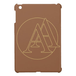 """Your monogram """"A&A"""" on """"iced coffee"""" background iPad Mini Cover"""