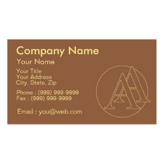 """Your monogram """"A&A"""" on """"iced coffee"""" background Pack Of Standard Business Cards"""
