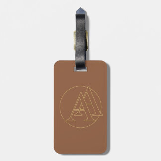 """Your monogram """"A&A"""" on """"iced coffee"""" background Travel Bag Tags"""