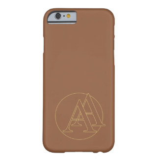 """Your monogram """"A&A"""" one """"iced coffee"""" background Barely There iPhone 6 Case"""