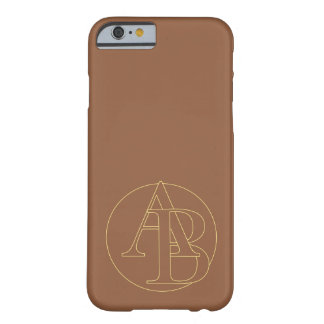 """Your monogram """"A&B"""" on """"iced coffee"""" background Barely There iPhone 6 Case"""