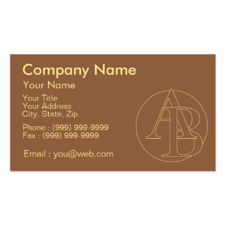 """Your monogram """"A&B"""" on """"iced coffee"""" background Pack Of Standard Business Cards"""