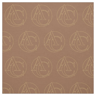 """Your monogram """"A&C"""" on """"iced coffee"""" background Fabric"""