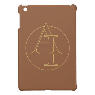 """Your monogram """"A&I"""" on """"iced coffee"""" background iPad Mini Covers"""