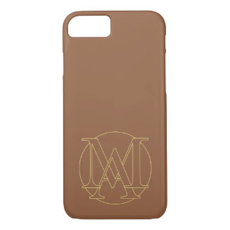 """Your monogram """"A&I"""" on """"iced coffee"""" background iPhone 7 Case"""