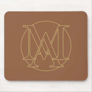 """Your monogram """"A&I"""" on """"iced coffee"""" background Mouse Pad"""