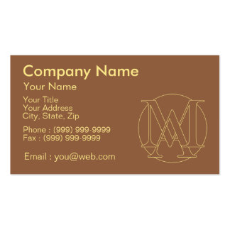 """Your monogram """"A&I"""" on """"iced coffee"""" background Pack Of Standard Business Cards"""