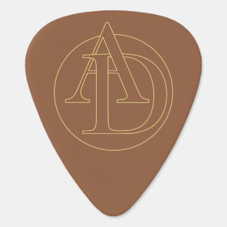 """Your monogram """"A&K"""" on """"iced coffee"""" background Guitar Pick"""