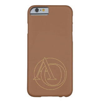 """Your monogram """"A&O"""" on """"iced coffee"""" background Barely There iPhone 6 Case"""