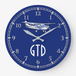 Your Monogram Aircraft Classic Cessna Flying on a Wall Clock