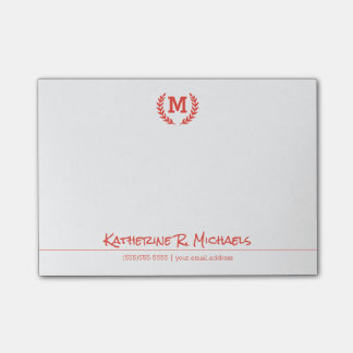 Your Monogram And Information Post-it Notes