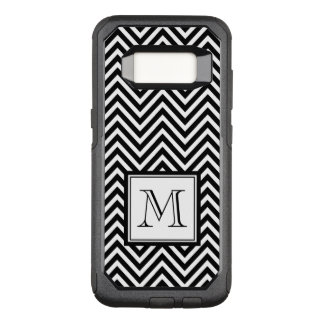 YOUR MONOGRAM, BLACK CHEVRON OtterBox COMMUTER SAMSUNG GALAXY S8 CASE