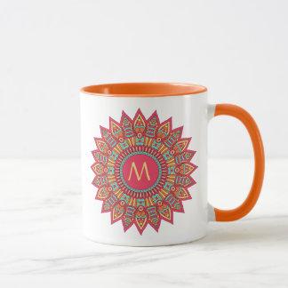 Your Monogram in a Boho Frame Mug