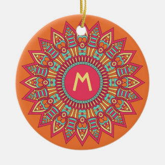 Your Monogram in a Boho Frame ornament