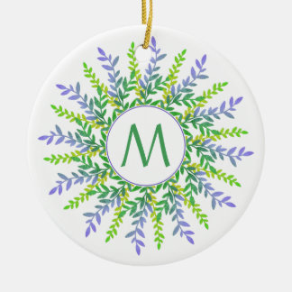 Your Monogram in a Botanical Frame ornament