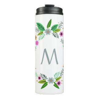 Your Monogram in a Flower Frame custom tumbler