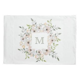 Your Monogram in a Flower Frame pillowcases