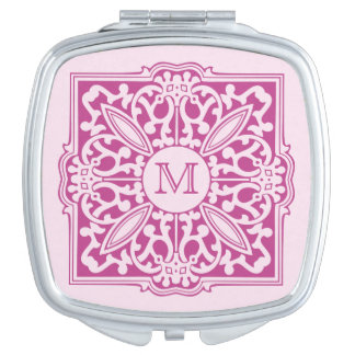 YOUR MONOGRAM in decorative frame pocket mirror Vanity Mirror