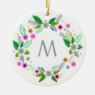 Your Monogram in Flower Frame ornament