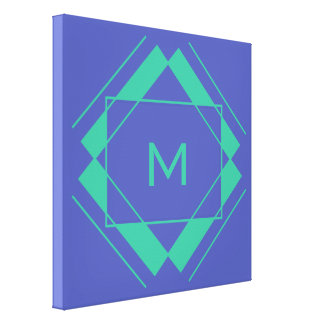 Your Monogram in Geometric Pattern canvas print