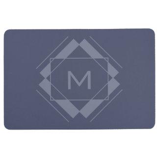 Your Monogram in Geometric Pattern floor mat