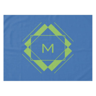 Your Monogram in Geometric Pattern table cloth