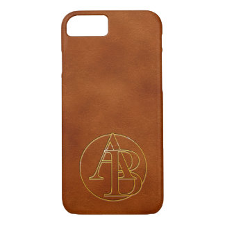 Your monogram in gold letter : initial A & B iPhone 7 Case