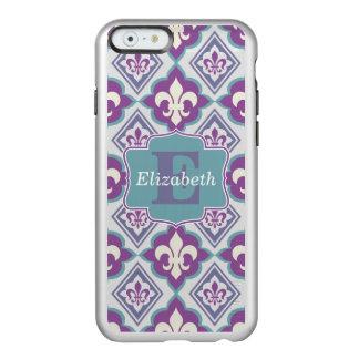 Your Monogram Name Fleur de Lis Pattern Incipio Feather® Shine iPhone 6 Case