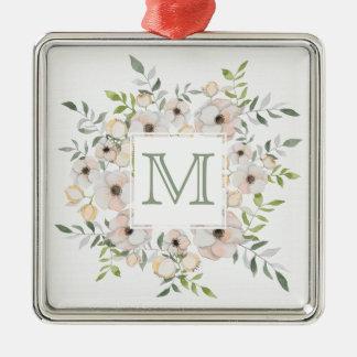 Your Monogram & Name in Flower Frame ornament