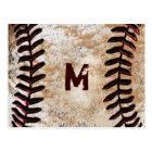 Your Monogram Vintage Baseball Post Cards