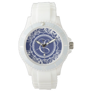 Your Monogram William Morris Blue and White Watch