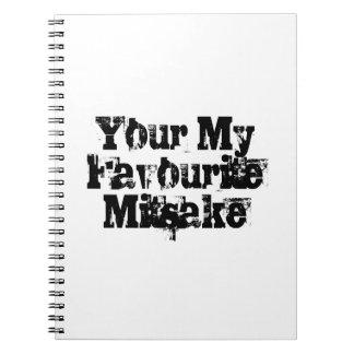 Your My Favourite Mitsake Spiral Notebook