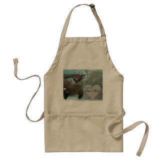 Your my Otter Half Brown River Otter Swimming Standard Apron