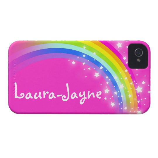 """""""Your name"""" (11 letter) rainbow pink iphone case"""