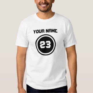YOUR NAME, 23 white T-SHIRT