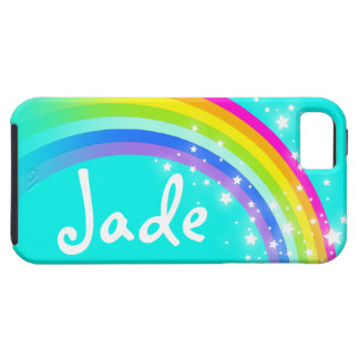 Your name 4 letter rainbow aqua iphone case
