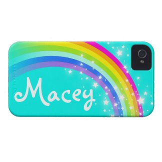 """Your name"" (5 letter) rainbow aqua iphone case"